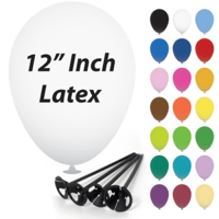 12 Inch Latex Balloons with Cup and Stick