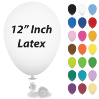12 Inch Latex Balloons with Helium Valve – HeliValve